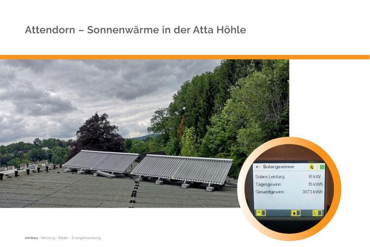 Attendorn – Atta Höhle wird mit Sonne beheizt