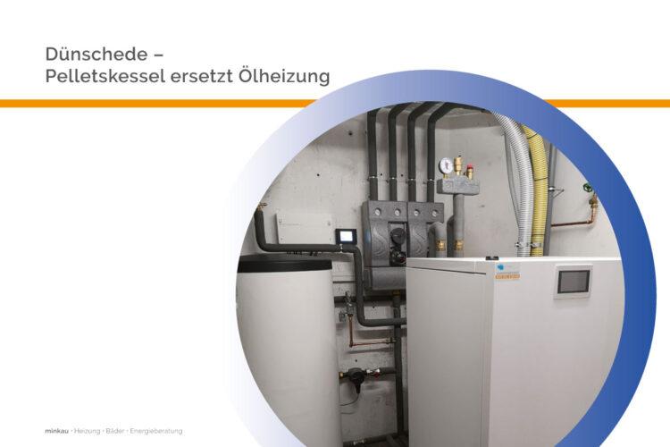 Dünschede – Pelletskessel ersetzt Ölheizung