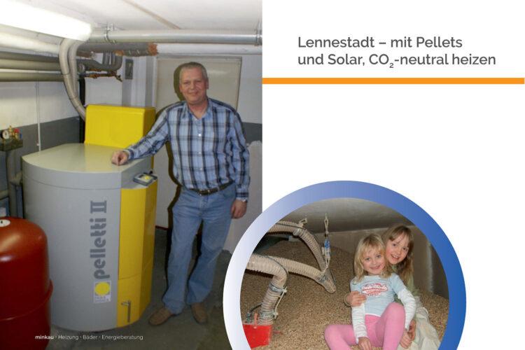 Lennestadt – mit Pellets und Solar, CO2-neutral heizen