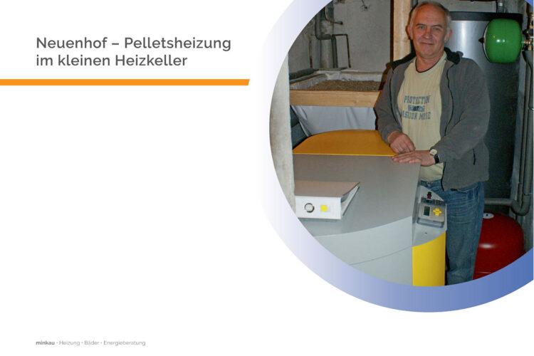 Neuenhof – Pelletsheizung im kleinen Heizkeller